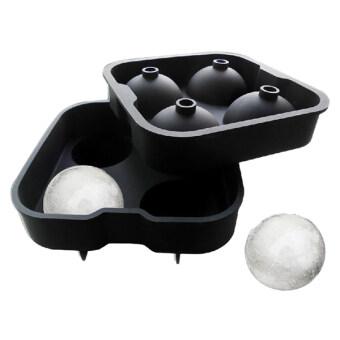 2ชิ้น/ชุดถาดทำน้ำแข็งลูกแก้วกลม ๆ ซิลิโคนหล่อแบบบาร์ห้องครัวเครื่องซ่อมนู่น
