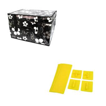 Replica Shop กระเป๋าจัดเก็บของอเนกประสงค์ (ลาย Modern Flower) + Replica Shop ที่แบ่งช่องลิ้นชัก Drawer Freestyle (สีเหลือง)