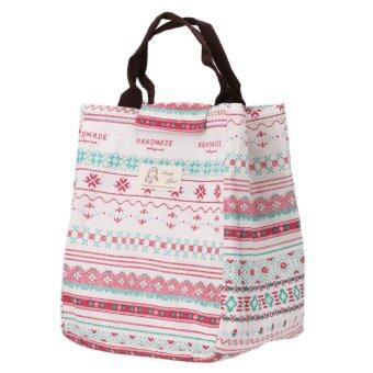 Harga Portable Canvas Thermal Lunchbox Tote Bag - Intl