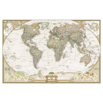 Harga VR_Tech OEM Map of The World Earth 36x24 Vintage Retro Wall Art - intl