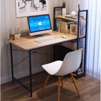 Asia โต๊ะทำงาน ขนาด 1.2 เมตร รุ่น BP216 Loft Style โครงดำ-บีช