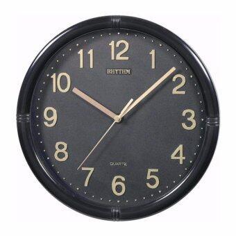 Rhythm นาฬิกาแขวนพลาสติก รุ่น CMG434NR02 (Black)
