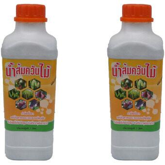 ASOKE wood vinegar น้ำส้มควันไม้ ผลิตจากควันไม้แท้100% 1ลิตร (2ขวด)