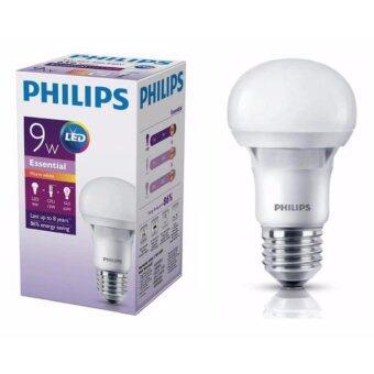 Philips หลอดไฟ LED Bulb 9W Essential แสงวอร์มไวท์ ขั้วเกลียว E27