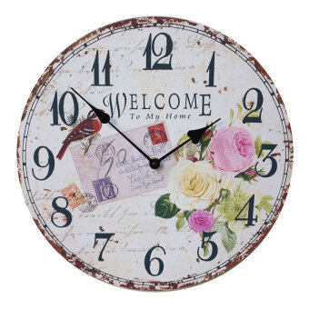 34 cm. Kristra Home&Decoration นาฬิกาแขวนผนัง แนววินเทจ รุ่น T60512