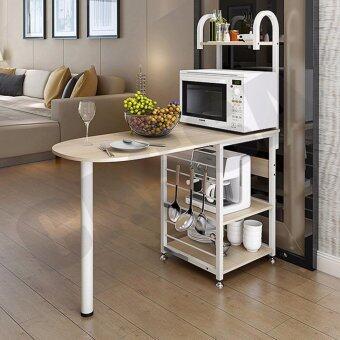 CASSA โต๊ะบาร์ โต๊ะกินข้าว พร้อมชั้นวางของ ประหยัดพื้นที่ ในห้องครัว รุ่น 216-W1-YW