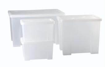 DKW ชุดกล่องอเนกประสงค์ 4 ใบ/ชุด(สีขาวใส)