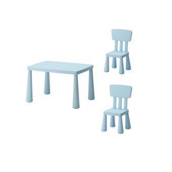 โต๊ะเด็ก เก้าอี้เด็ก ชุดเฟอร์นิเจอร์เด็กเล็ก เซทโต๊ะเก้าอี้เด็ก โต๊ะกิจกรรมเด็กเล็ก สีฟ้า Happy-T