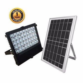 โคมไฟถนน ไฟรั้วใช้พลังงานแสงอาทิตย์ 12 วัตต์ LED 45 ดวง (2835)