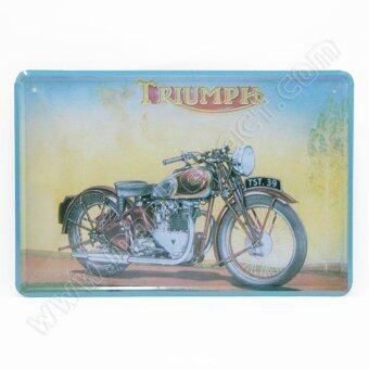 ป้ายสังกะสวินเทจ Triumph Motorcycle
