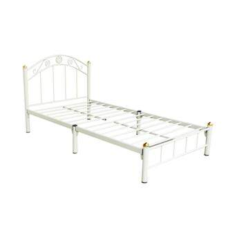 ISO เตียงเหล็ก ขนาด 3.5ฟุต รุ่น Flower (สีขาว)