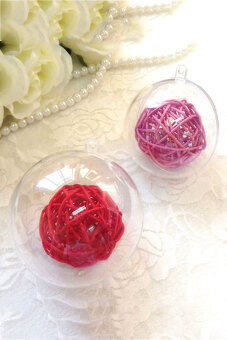 Harga OEM 10cm Christmas Decoration Hanging Transparent Christmas Ball Ornaments Baubles