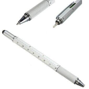 ปากกาช่างอเนกประสงค์ 6 in 1 Professional Stylus Pen (Sliver/สีเงิน)