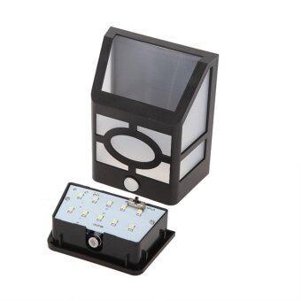 โคมไฟ โซล่าเซลล์ พลังงานแสงอาทิตย์ ติดผนัง 10 LED มีเซนเซอร์ รุ่น Montion Sensor