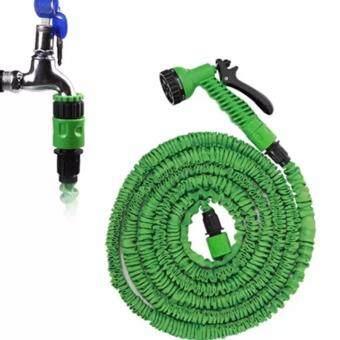 Elastic Hose สายยางยืดหด-in-หัวฉีดน้ำ 22.5เมตร/75FT จะขยายและสัญญา (สีเขียว)