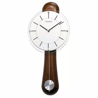 RHYTHM นาฬิกาแขวนไม้ รุ่น CMP525NR06 - Brown