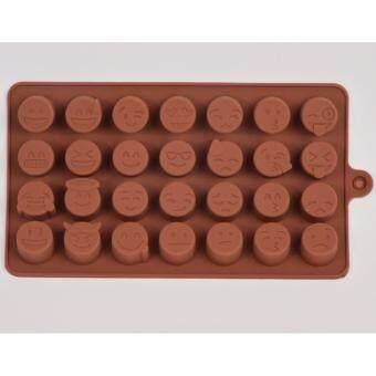 แม่พิมพ์ซิลิโคน การ์ตูนน่ารัก Line Face icon พิมพ์วุ้น ทำน้ำแข็ง ทำ chocolate food grade (คละสี)