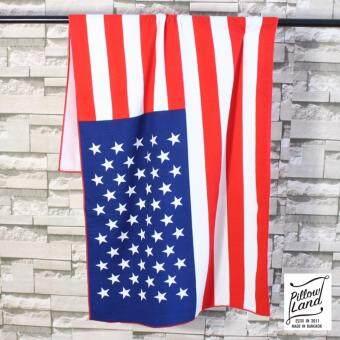 ผ้าขนหนู นาโนลายธงชาติ ขนาด 70cm.x 130cm. รุ่น - ผ้าเช็ดตัว 102