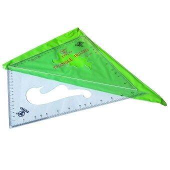ฉากสามเหลี่ยม ไม้บรรทัดพลาสติก ขนาด 12 นิ้ว (2 ชิ้น/1ชุด)