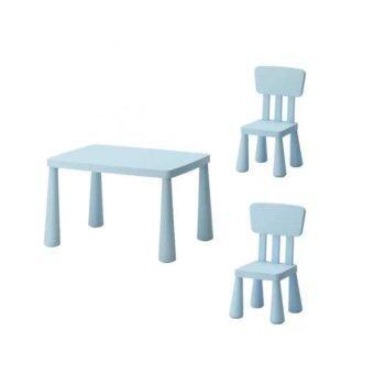 โต๊ะเด็ก เก้าอี้เด็ก ชุดเฟอร์นิเจอร์เด็กเล็ก เซทโต๊ะเก้าอี้เด็ก โต๊ะกิจกรรมเด็กเล็ก สีฟ้า CK