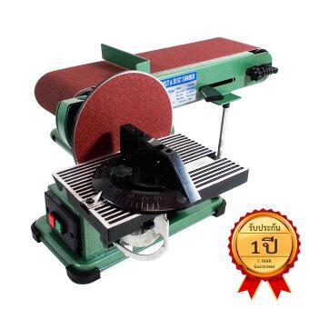 TIGER เครื่องขัดกระดาษทรายสายพานและจานขัด 4x16 นิ้ว (สีเขียว)