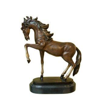 THAI BRONZE รูปปั้นทองเหลือง รูปม้า ยืน 3 ขา (BRONZE)