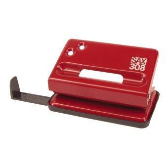 SAX เครื่องเจาะกระดาษ Compact (M) รุ่น 308 - Red