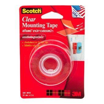 Scotch Clear Mounting Tape เทปโฟมกาวสองหน้าชนิดใส CAT4010 21 มม.x 2 m.