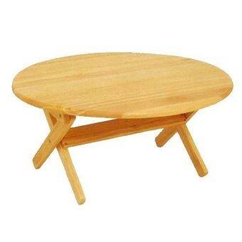 โต๊ะญี่ปุ่นกลมไม้ยางพับได้ ขนาด 75 cm. (สีธรรมชาติ)