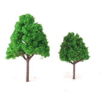 25ชิ้นพลาสติกที่เปลือกต้นไม้รุ่นเค้าโครงกลยุทธ์ฉากรถไฟ Diorama 1:150
