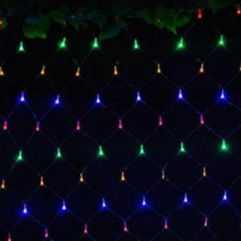 Light Farm ไฟตาข่าย LED ขนาด 1.5 x 1.5 ม. สี รวม ไฟตกแต่ง ไฟประดับ LED แพ็ค 1 ชุด