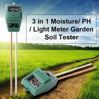 PH Moisture Meter เครื่องวัดค่า PH ความเป็นกรด-ด่างความชื้น และความสว่าง 3 in 1 Soil PH Meter