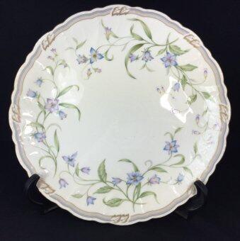 Imported Kitchenware จานเซรามิก จานกลม ลายดอกไม้