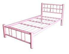 Inter Steel โครงเตียงเดี่ยว 3.5 ฟุต รุ่น ล็อตเต้ - สีชมพู