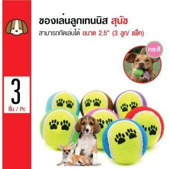 iPet ของเล่นสุนัข ลูกเทนนิส ลูกบอล สำหรับสุนัขทุกสายพันธุ์ ขนาด 2.5นิ้ว (3 ลูก/ แพ็ค)