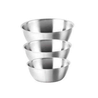 Jaguar ถ้วย ถ้วยขนม/ถ้วยขนมสเตนเลส คละไซส์ - Silver (9 ใบ)