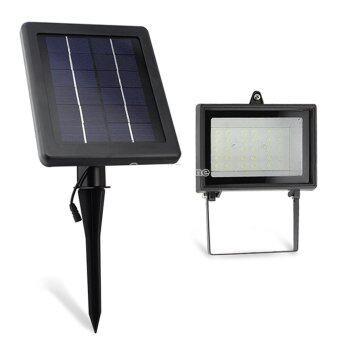 Jaynika Ultra Bright Solar 30 LED Outdoor Garden Spot Flood Light Lawn Lamp Waterproof - Black