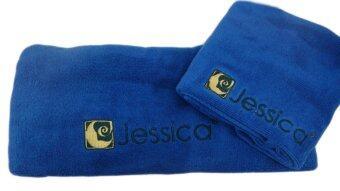Jessica ชุดผ้าขนหนู เช็ดตัว+เช็ดหัว - สีน้ำเงิน (สองชิ้น)