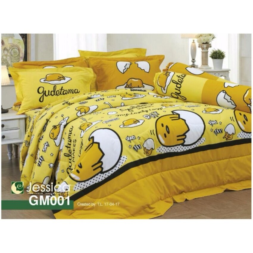 Jessica ชุดผ้าปูที่นอน ไม่รวมผ้านวม ลายไข่ขี้เกียจ รหัส GM001 ขนาด 6 ฟุต