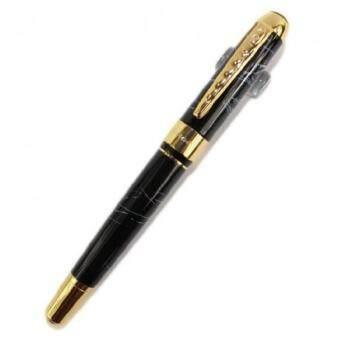 เสนอราคา เชอรี่ Jinhao 250 Faountain ปากกาเขียนตัวอักษรสีดำและโกลเด้นคลิปอาร์ตปากกา