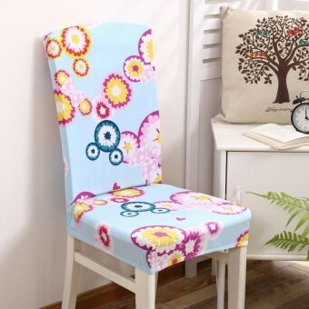 KCASA WX-PP7 Removable Elegant Flower Elastic Stretch Chair Seat Cover Dining Home Hotel Wedding Decor - intl