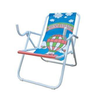 ประกาศขาย KK_Shop เตียงผ้าใบปิคนิคชายหาด รุ่น เก้าอี้ชายหาด02 โครงเหล็ก (สีขาว/ผ้าใบสีฟ้า )
