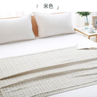 Knitted Throw Blanket Solid Color Thread Blankets Washable MantaSpring Autumn Sofa Cobertor Air Conditioning Nap Cobertors