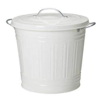 KNODD ถังขยะมีฝาปิด Bin with lid 34*32 ซม. 16 ลิตร(ขาว)