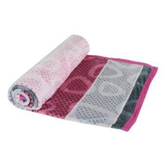 Kob ผ้าห่มไมโครไฟเบอร์ - ขนาด 180 x 200 ซม. สีชมพู-เทา