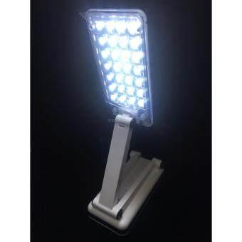 โคมไฟตั้งโต๊ะ โคมไฟอ่านหนังสือ โคมไฟพกพา โคมไฟอ่านหนังสือชนิดพกพาได้ โคมไฟ ใช้หลอดไฟ LED 28 ดวง แสงไฟสีขาว ประหยัดพลังงานกว่า สามารถชาร์จได้ - 2