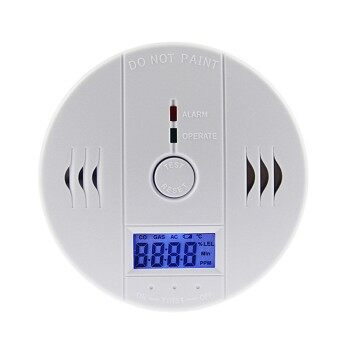 LED CO Carbon Monoxide Detector Alarm Sensor with LCD Digital Display Battery Operated - intl