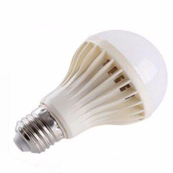 หลอดไฟรีโมท LED E27 เปิด-ปิด ผ่านรีโมทบ้านธรรมดา 7W แสงขาว 2หลอด