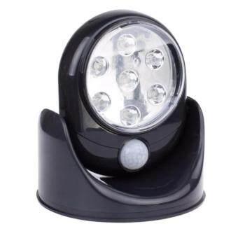 LED Motion Sensor ไฟเซ็นเซอร์ 7 LED ตรวจจับการเคลื่อนไหวปรับระดับ360°