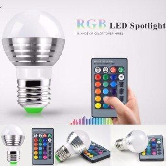 หลอดไฟ LED RGB 16 สี พร้อมรีโมท ฟรีถ่าน CR2025